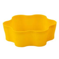 Вазон пл. Гардения Кактус 5,5 круг желтый