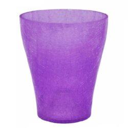 Кашпо для орхидей битое стекло фиолетовый
