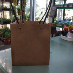 сумка квадрат крафт 22