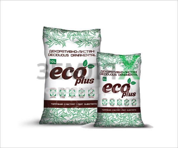 Грунт «Eco Plus», 10 л (для декоративно-лиственных)