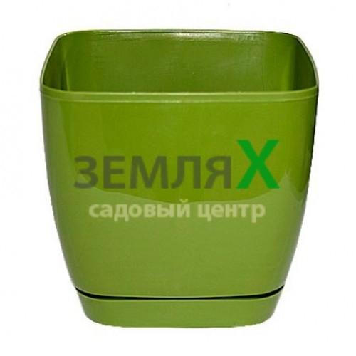 Вазон «Тоскана» квадрат, D-110мм (зеленый)