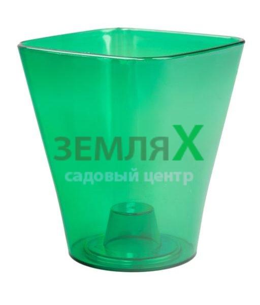 Кашпо «Квадро» D-130мм (зеленый)