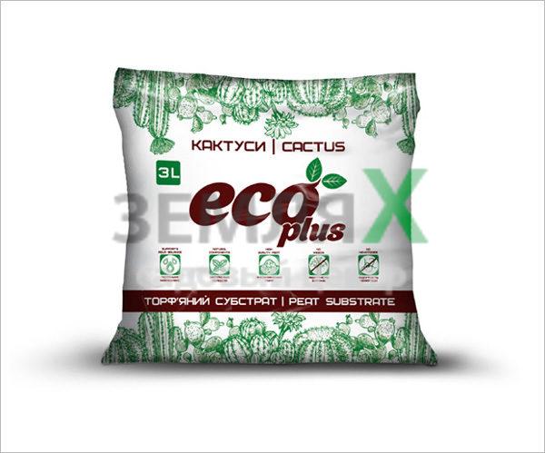 Грунт «Eco Plus», 3 л (для кактусов)