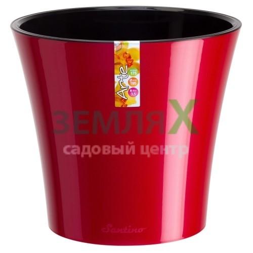 Вазон «Arte» D-165мм (красный-черный)