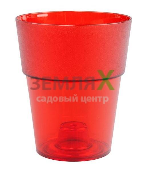 Кашпо «Коло» D-135мм (красный)