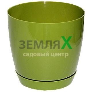 Вазон «Тоскана» круглый, D-110мм (оливковый)