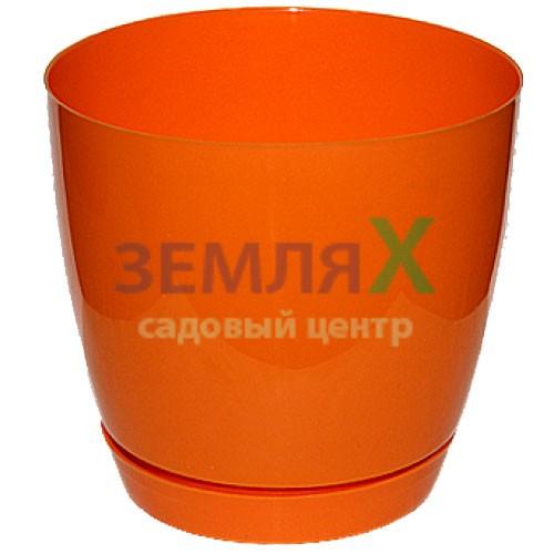 Вазон «Тоскана» круглый, D-110мм (оранжевый)