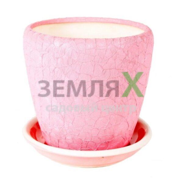 Вазон «Грация №1 Шёлк» D 260мм (Розовый)