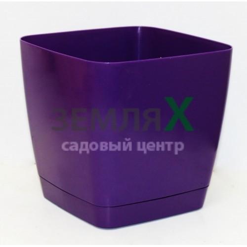 Вазон «Тоскана» квадрат, D-130мм (фиолетовый)