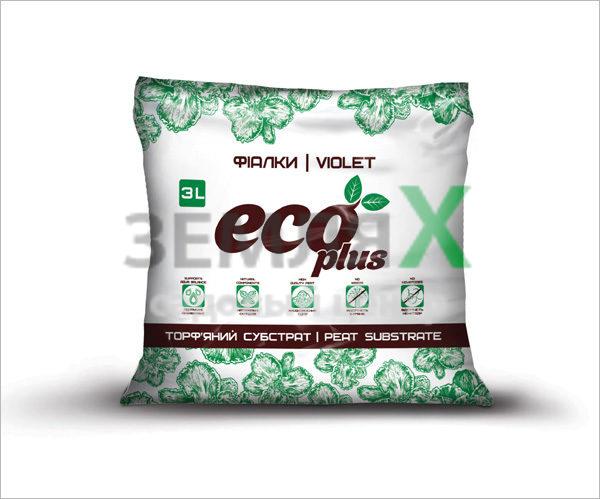 Грунт «Eco Plus», 3 л (для фиалок)