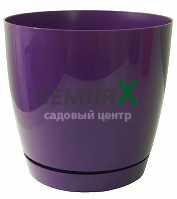 Вазон «Тоскана» круглый, D-110мм (фиолетовый)