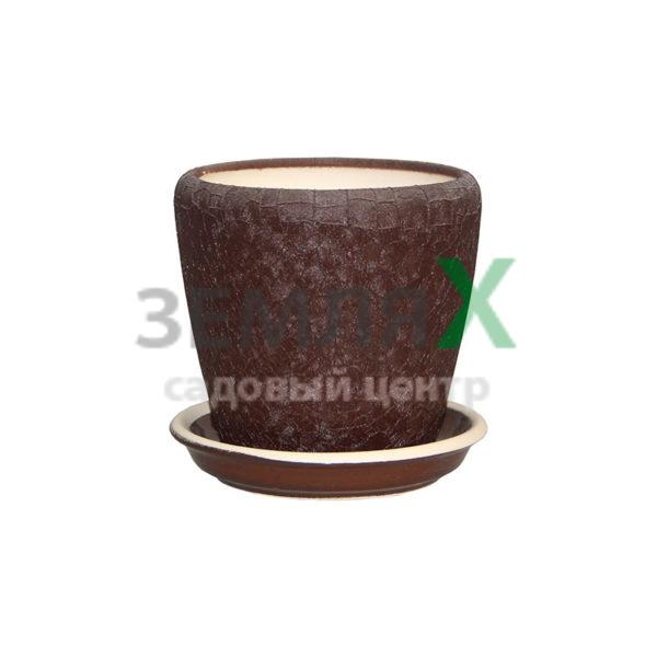 Вазон «Грация №4 Глянец» D 150мм (шоколад)